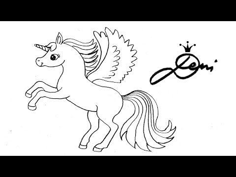 Einhorn Zeichnen Pegasus Regenbogen Schnell Zeichnen Lernen