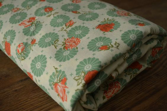 34 inch floral print fabric by sewinseason on Etsy, $7.00