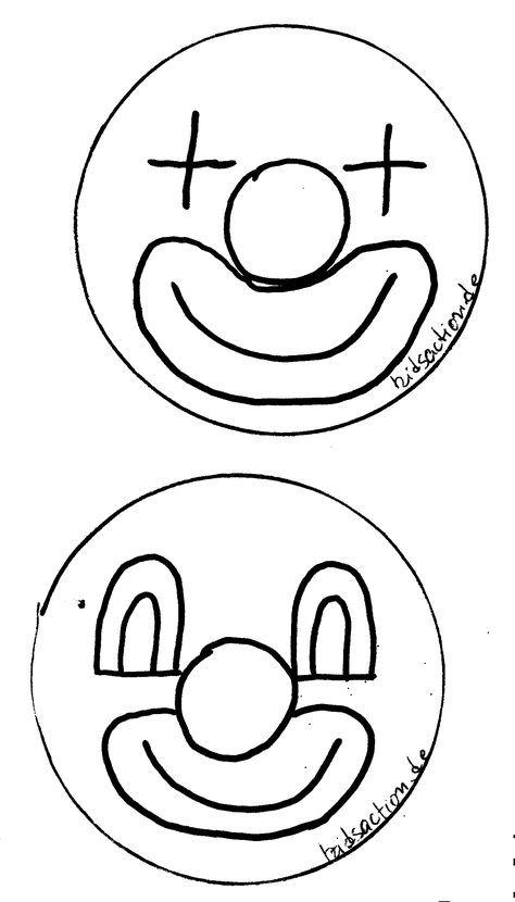 Clown Gesicht Vorlage Abc Buch Rosto De Palhaco Dia Do Circo Artesanato Facil Para Criancas