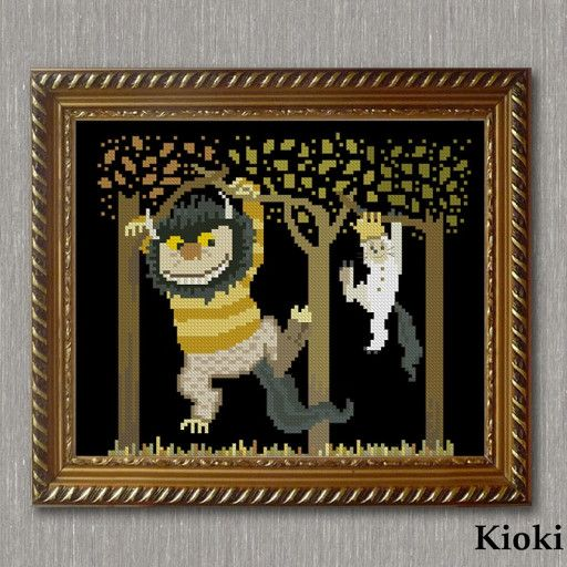 Where the Wild Things Are Children/'s Book DIGITAL Counted Cross-Stitch Pattern