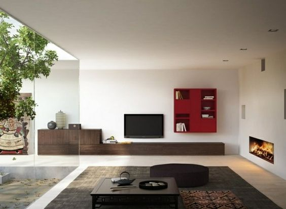 meubles de salon 96 ides pour lintrieur moderne en photos - Salon Moderne Bois