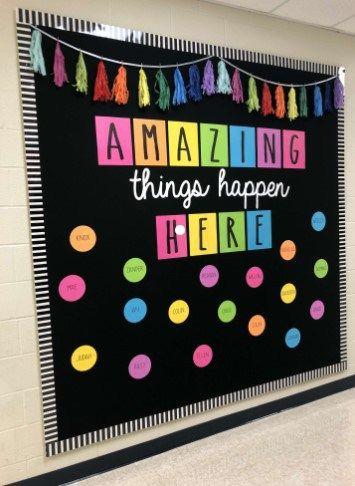 Extraordinary Classroom Wall Decoration Ideas Classroom Classroomdecorpreschool Classdecora Diy Classroom Decorations Classroom Board School Bulletin Boards