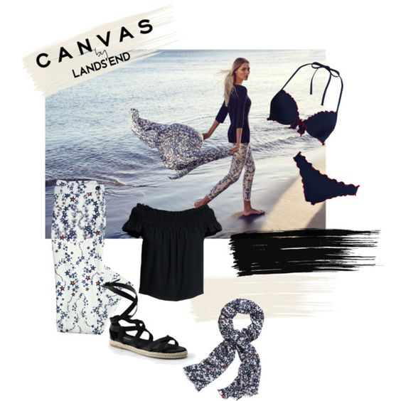 Paint Your Look With Canvas by Lands' End: Contest Entry by slutskeran on Polyvore featuring мода, Canvas by Lands' End and Lands' End