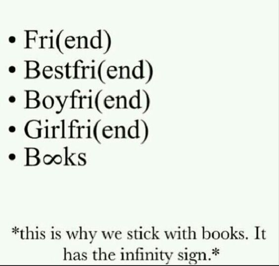 This is why we stick with books. It has the infinity sign.: