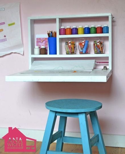 What a great space saver and a fun, easy-looking carpentry project!!