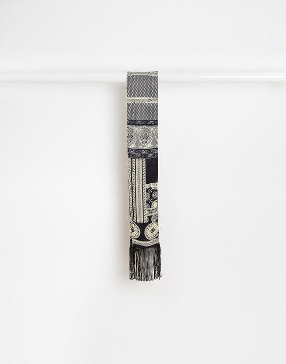 Schal von Reclaimed Vintage leichtes Material Fransen Chemisch reinigen 100% Viskose 140 cm/55 Zoll, Breite: 12 cm/5 Zoll Produkte sind aufgrund ihrer besonderen Beschaffenheit nicht identisch exklusiv bei ASOS