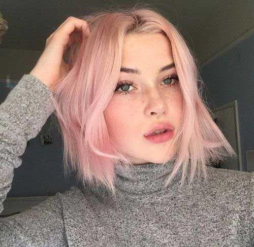 Pink Short Hairstyles Women Pink Short Hair Pastel Pink Hair Hair Styles