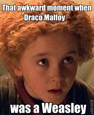 Draco Malfoy was once a Weasley. (from the borrowers)