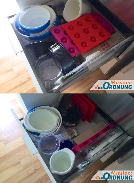 Mission:ORDNUNG: Ordnung in der Küche - Schublade für Backzeug