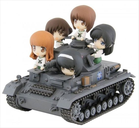 PSL Girls & Panzer IV Panzer D-Ending Ver. Team Monkfish Plastic Pit-Road…