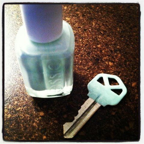use polish to paint a key