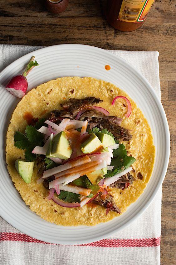 Slow Cooker Barbacoa Style Lamb Tacos