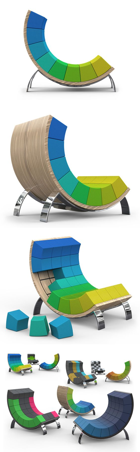 """The Ego """"smart"""" chair lets you put your own twist on the design in a simple and fun way! Read more at Yanko Design"""
