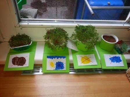 mamamisas welt pflanzversuch mit kresse ideenb rse kindergarten pinterest. Black Bedroom Furniture Sets. Home Design Ideas