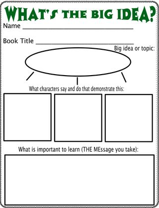 Great ideas for helping to teach and identify theme.