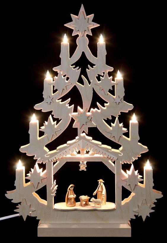 Lichterspitze - Christbaum (47x34x5,5cm) von Michael Müller