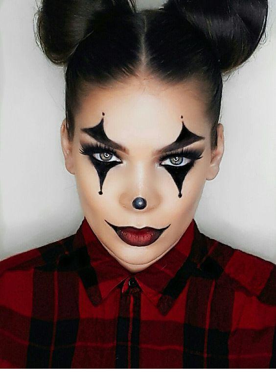Halloween Joker Face Makeup For Girls Nice Ladies Halloween Makeup Pretty Halloween Makeup Clown Cute Halloween Makeup