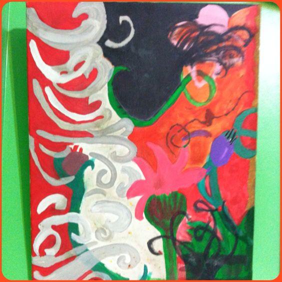 Interpretative abstract painting