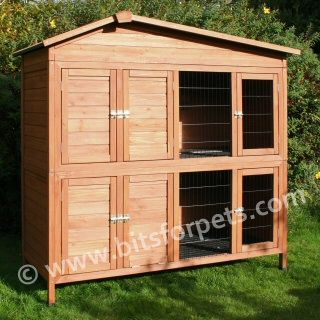 Rabbit hutches rabbit and a medium on pinterest for Amazing rabbit cages
