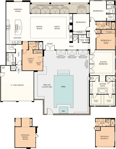 Courtyard Is A Cool Plus House Plans Pinterest The
