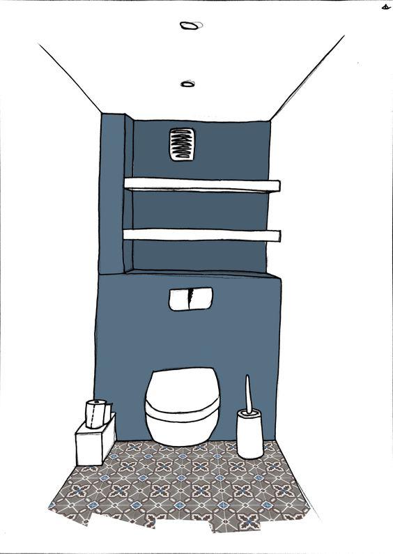Déco : La rénovation de nos WC - Lalouandco
