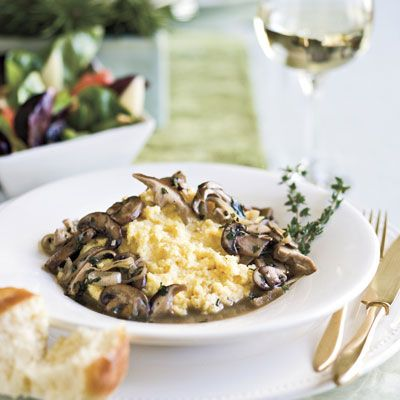 Ladies' Lunch Let these outstanding recipes, along with the warmth and laughter of these friends, resonate with you and your family.Ragoût of Mushrooms With Creamy Polenta is a hearty meatless main course. Don't let polenta scare you―it's just the Italian version of grits.