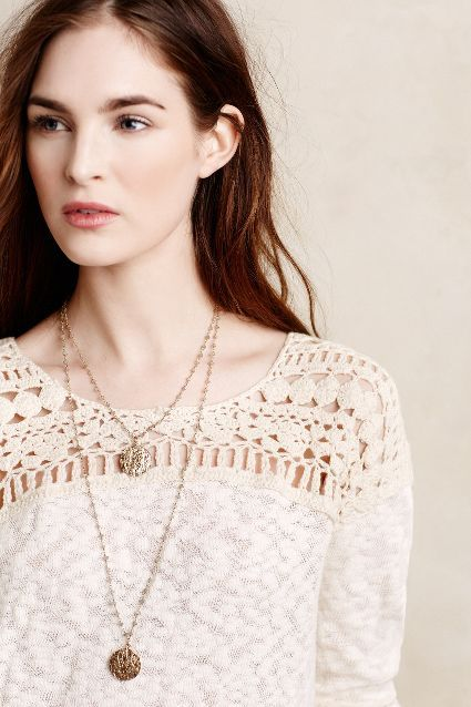 Kellen Crochet Pullover #anthrofave