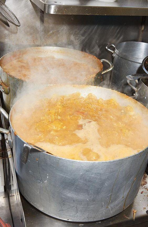 TETOU CANNES - A boiling pot of fish soup, for bouillabaisse:
