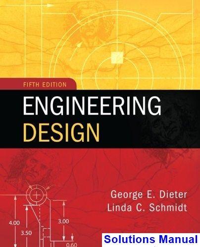 Engineering Design 5th Edition Dieter Solutions Manual Engineering Design Mechanical Engineering Design Portfolio Web Design