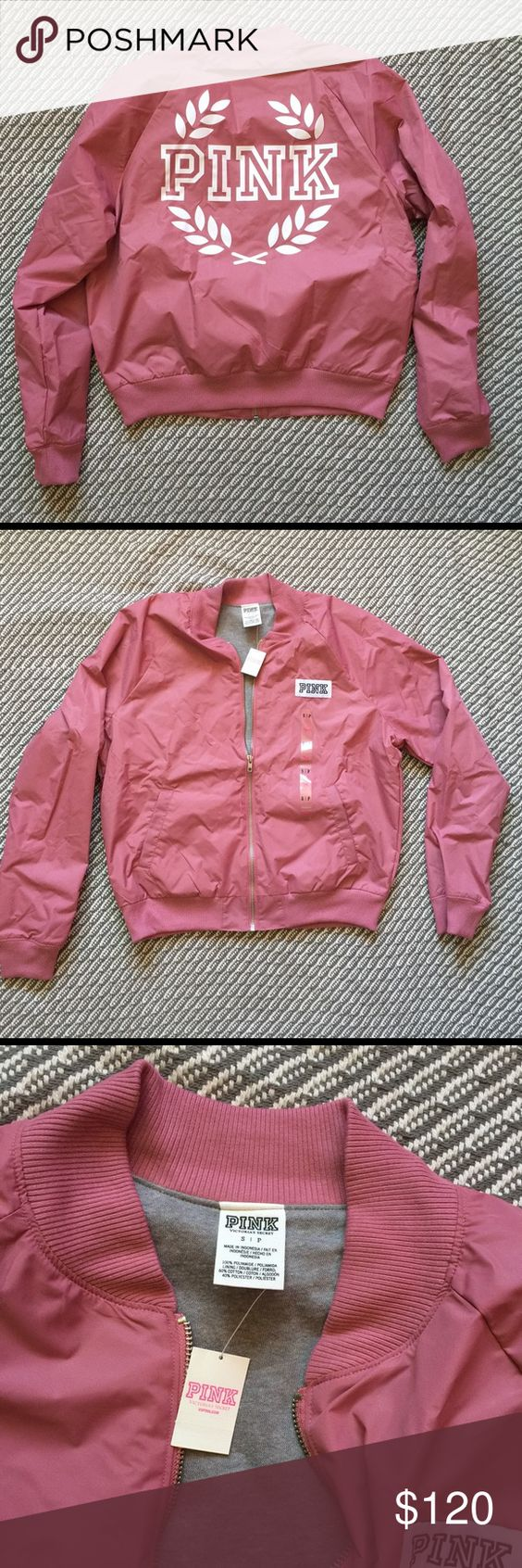 NWT VS PINK BOMBER JACKET SOFT BEGONIA LARGE PRICE IS FIRM  New with tag Victoria's Secret PINK Bomber jacket.   Size: Small Color: soft begonia ( Mauve )  Search Dixiesdeals on Merrrrrc free shipping PINK Victoria's Secret Jackets & Coats Puffers