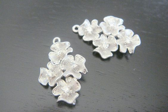 Earring findings Matte Silver Tarnish resistant by ElegantDreams, $5.58