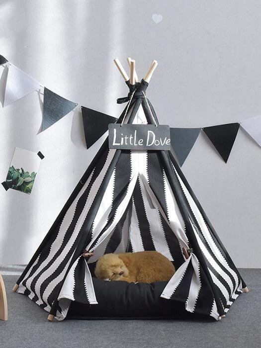 Stripe Pet Teepee Tent Pet Teepee Dog Teepee Pet Beds