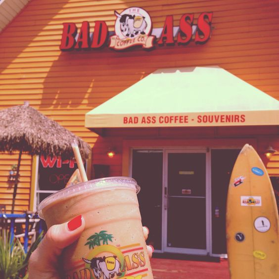Bad Ass Coffee.. A must have if vacationing in Destin/ Miramar Beach, Florida! And Pet friendly... Check out the link below! TheeGirlinYellow.com