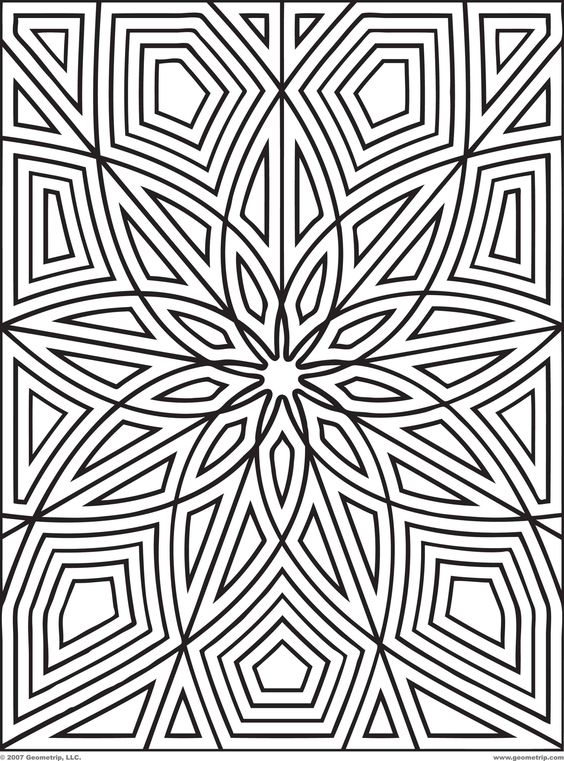 Printable Geometric Patterns | Designs Print Get Your Free Printable Mandala Coloring Pages Here