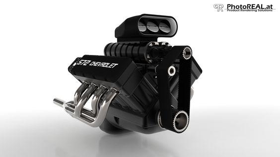 Produktvisualisierung eines Motors http://www.photoreal.at