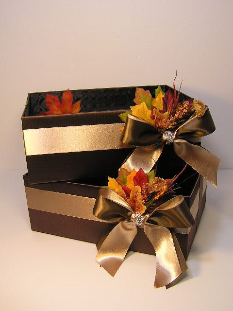 Fall Wedding Card Box Gift Card Box Money Box by bwithustudio