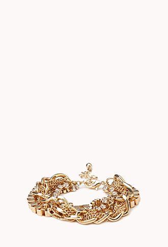 Dazzling Multi-Chain Bracelet | FOREVER21 - 1000089423