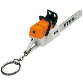 Keychain in shape of a miniture motor chain saw with sound /  Schlüsselanhänger Motorsäge mit Motor-Geräusch von/by STIHL