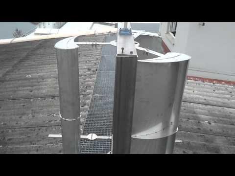 vertikales windrad vawt c rotor vertikal axis wind turbine 1 kw youtube. Black Bedroom Furniture Sets. Home Design Ideas