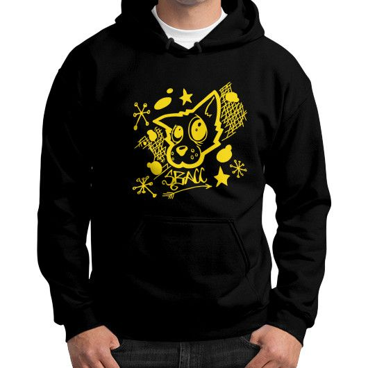 Animal Rescue Effort Gildan Hoodie (on man)