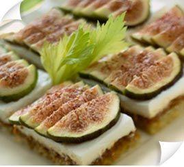 Toasts aux figues et fromage frais