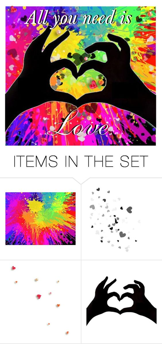 """""""All you need is love"""" by found-herself-in-wonderland-13 ❤ liked on Polyvore featuring art"""