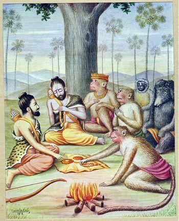 Rama Meets Sugreeva - https://en.wikipedia.org/wiki/Sugriva