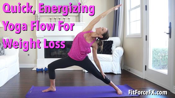 Quick Energizing Yoga Flow for Weight Loss: Great for warm-up, cool down...