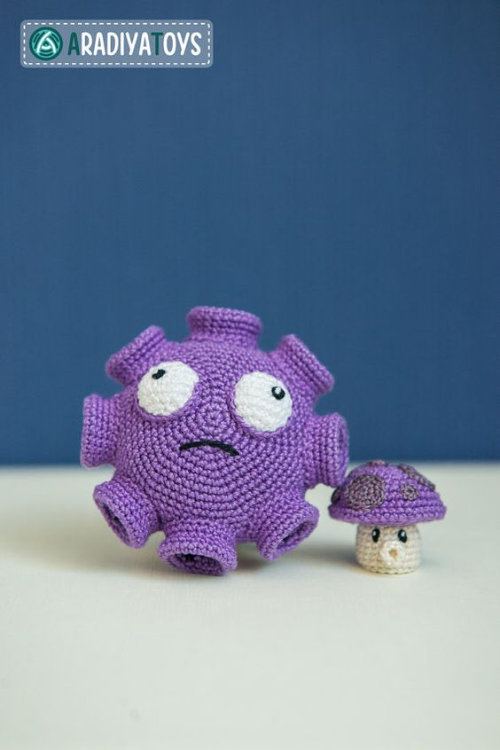 Crochet Pattern of Gloom and Puff Shrooms from Plants von Aradiya