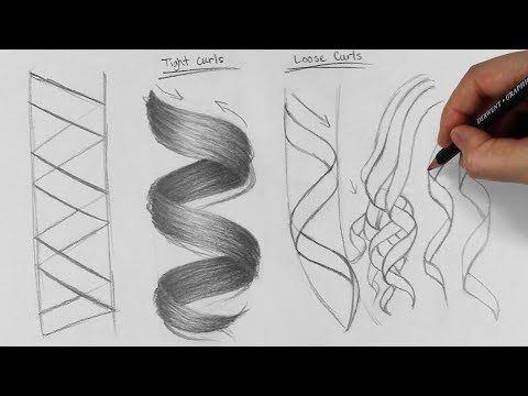 Best Secrets To Drawing Realistic Hair In Graphite In Pencil Artisthue Com Curly Hair Drawing How To Draw Hair Curly Hair Styles