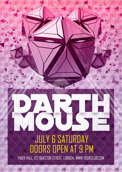Free Flyer Darth Mouse Electro Flyer Template - http\/\/www - electro flyer