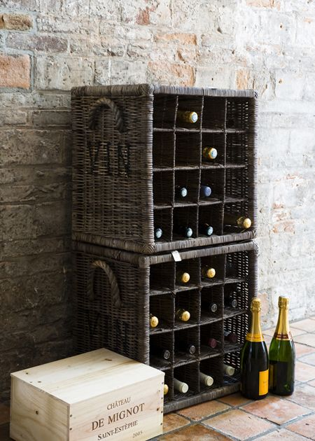 €199,00 Rustic Rattan Wine Rack 16 Bottles #living #interior #rivieramaison:
