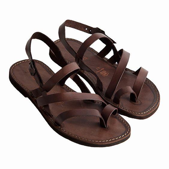 Sandalo indiano marrone da uomo