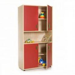 Mueble escolar alto armario 4 puertas y hueco central